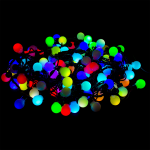 LED Christmas light 17MM-10M-RGB