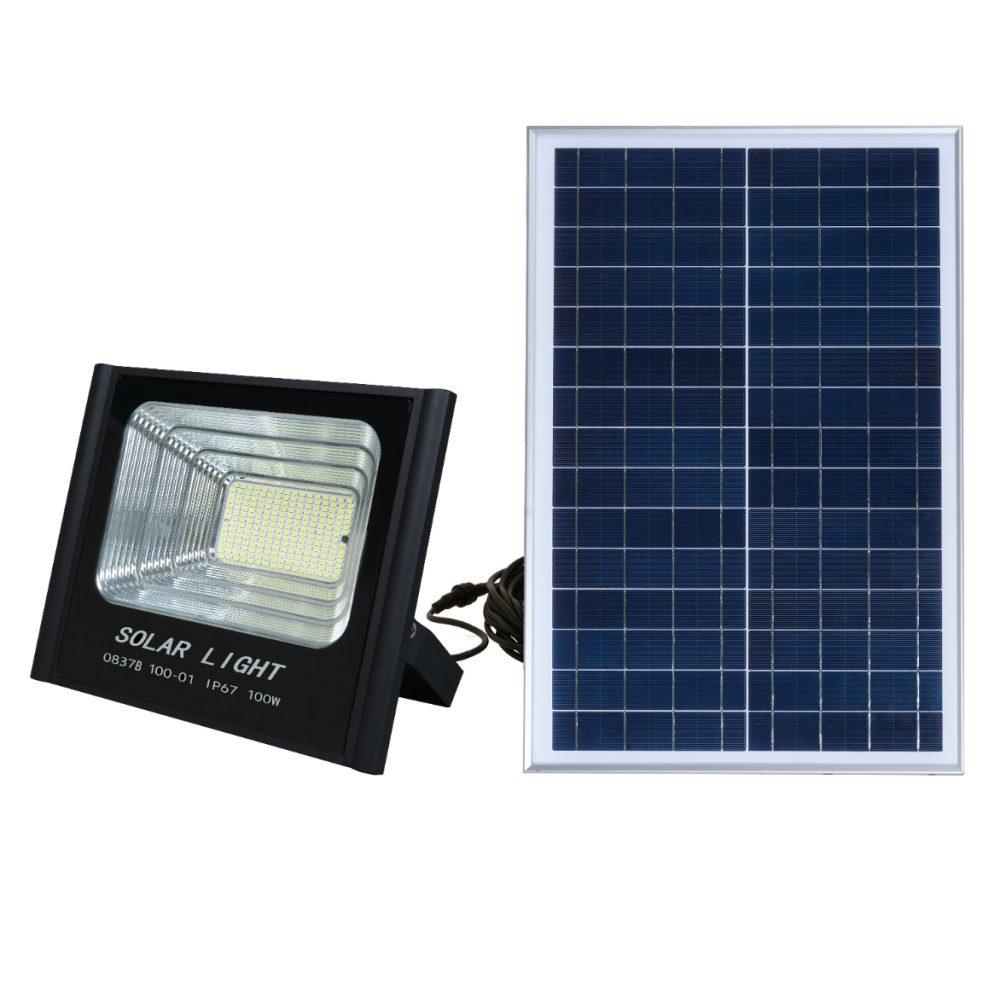 Solar LED Flood Light PLS-FL100W-6K/B