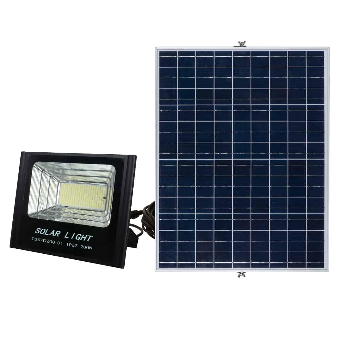 Solar LED Flood Light PLS-FL200W-6K/B
