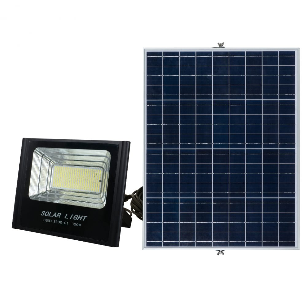 Solar LED Flood Light PLS-FL300W-6K/B