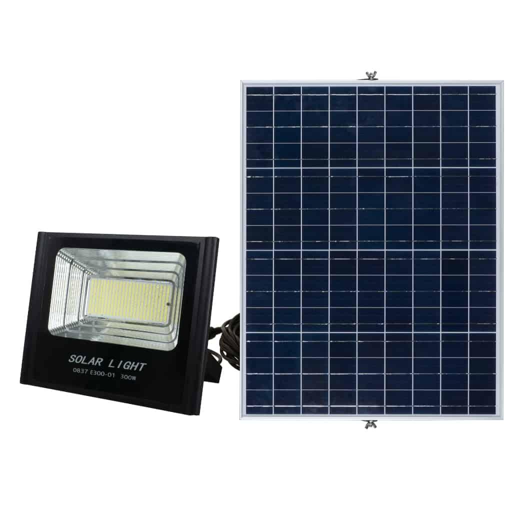 Solar LED Flood Light PLS-FL300W-6K/B